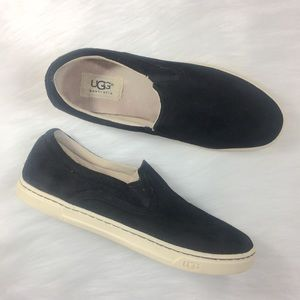 UGG Suede Black Slip on Shoes Size 7